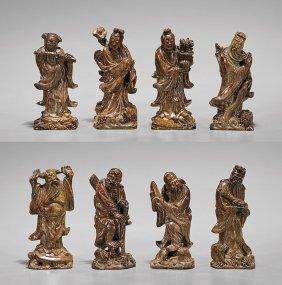 Eight Shoushan Figural Stone Seals