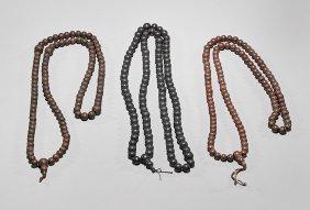 Three Antique Buddhist Prayer Beads