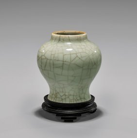 Song/yuan Dynasty Guan-type Celadon Vase