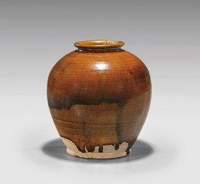 Tang Dynasty Glazed Pottery Jar