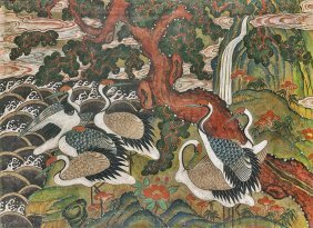 Antique Korean Painting: Birds