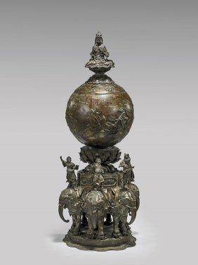 Massive Antique Japanese Bronze Censer