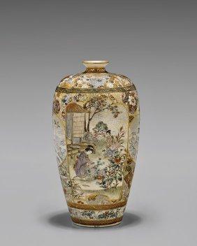 Antique Shuzan Satsuma Vase