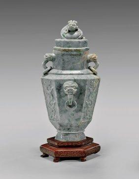 Archaistic Chinese Jadeite Vase
