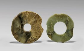 Two Archaic Jade Rings: Bi & Xuanji