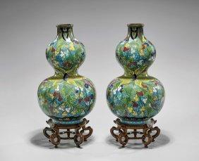 Pair Antique CloisonnÉ Vases