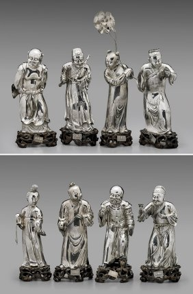 Sterling Silver Figures: Eight Immortals