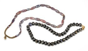 Two Antique Venetian Trade Glass Bead Necklaces