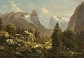 Important Oil Painting By Asher Brown Durand