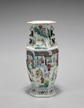 Antique Famille Rose Porcelain Vase