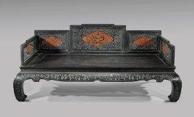 Qianlong-style Hardwood Daybed