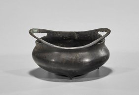 Small Ming-style Bronze Censer