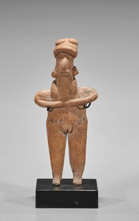Pre-columbian Moulded Pottery Female Figure