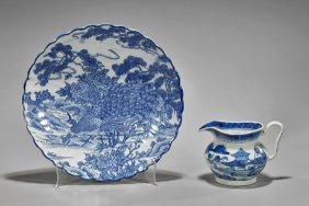 Two Antique Chinese Blue & Whites