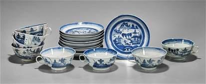 Seventeen Antique Export Canton Porcelains