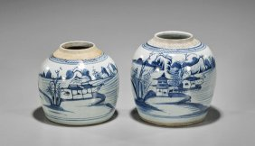 Two Antique Chinese Storage Jars