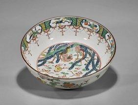 Large Antique Japanese Imari Bowl