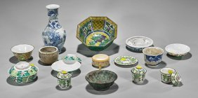 Seventeen Antique Chinese & Japanese Items