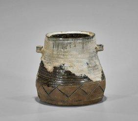Antique Japanese Karatsu Ware Jar