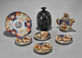 Group Of Seven Various Asian Porcelains