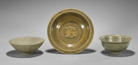 Three Song & Ming Dynasty Celadon Bowls