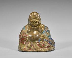 Ming Dynasty Enameled Copper Budai
