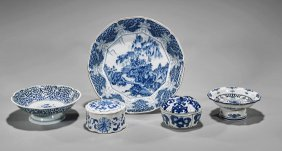 Five Various Blue & White Porcelains