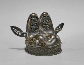 Antique Chinese Bronze Scholar's Hat Censer