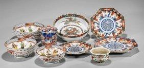 Nine Old & Antique Japanese Imari Dishes