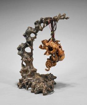Chinese Hanging Netsuke Tree