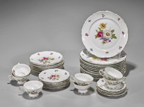 Two Porcelain Dish Sets: Bavarian & Japanese