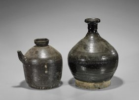 Two Large Chinese Henan-type Ceramic Jars