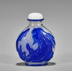 Three Snuff Bottles: Glass & Porcelain