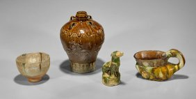 Four Tang/tang-style Glazed Potteries