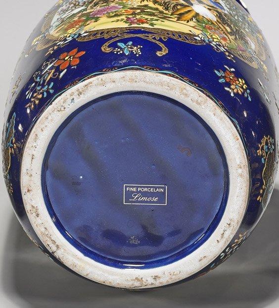 Three Large Blue & Gilt Porcelain Vases - 3