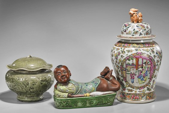 Three Large Chinese Porcelains