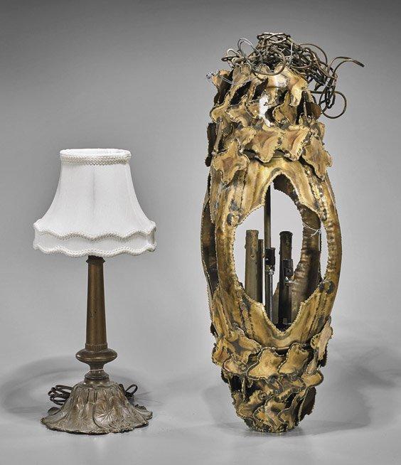 Two Vintage Metal Lamps