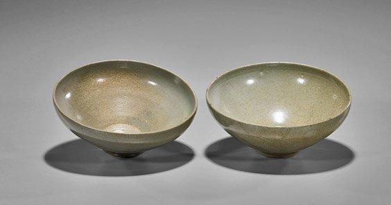 Two Koryo Dynasty Celadon Glazed Bowls