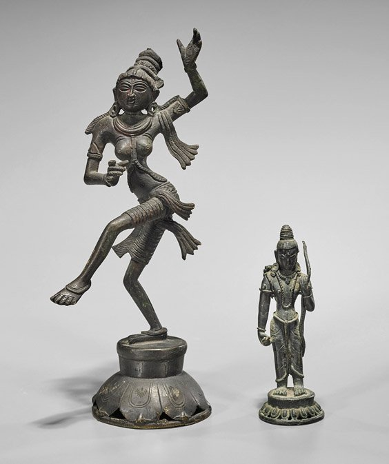 Two Asian Bronze Figures: Dakini & Archer
