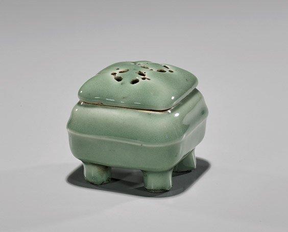Antique Japanese Celadon Glazed Koro