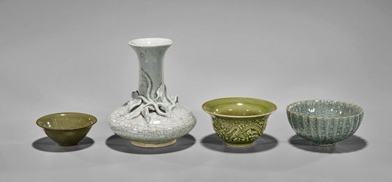 Four Early-Style Chinese Glazed Ceramics
