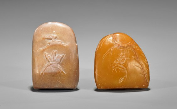 Two Chinese Shoushan Stone Pebbles: Figures - 2