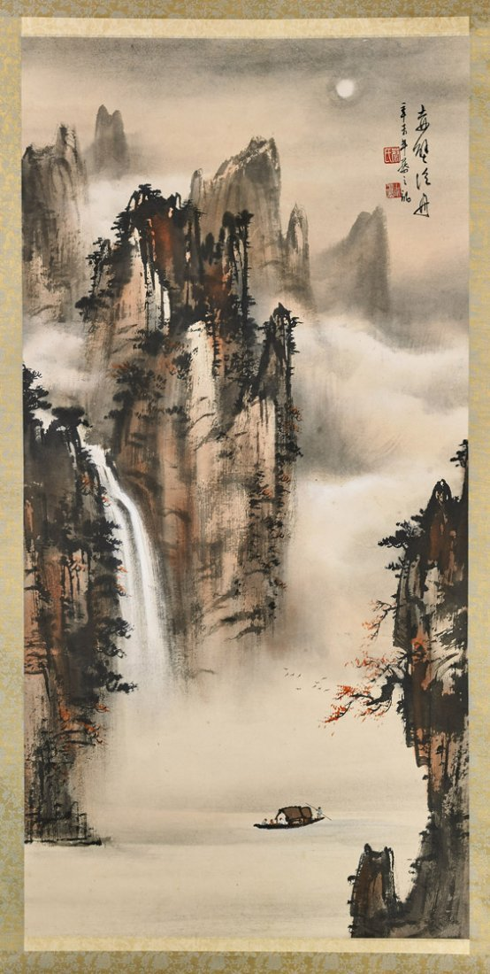 Two Chinese Paper Scrolls: Louts & Red Cliff