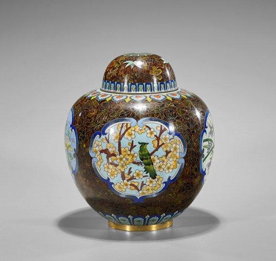 Chinese Cloisonné Enamel Ginger Jar