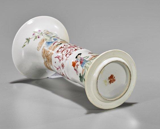 Antique Qianlong-Style Famille Rose Beaker Vase - 2