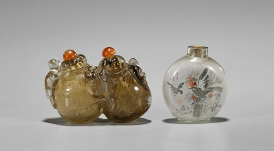 Two Chinese Glass Snuff Bottles - 2