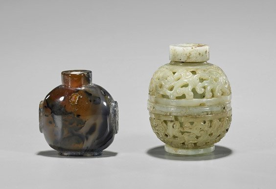 Two Carved Stone Snuff Bottles - 2