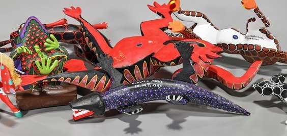 Seven Various Oaxacan Carved Wood Animals - 2