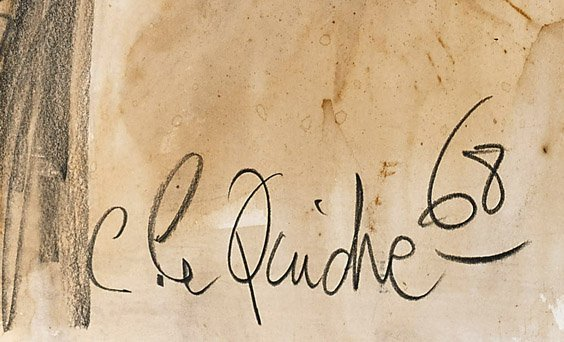 Mixed Media Drawing Signed C. Le Quidre - 2