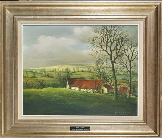 Two Large Oil on Canvas Paintings: Cottages - 3